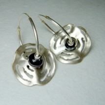 Designer Sterling Silver Earrings, by JanArt, Made in Israel