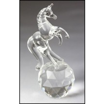 Crystal Ornament Standing Horse