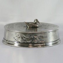 Loading image - Duck Trinket Box Solid Pewter, Made In Italy, Men's Gift