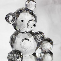 Loading image - Crystal Teddy Bear  Ornament, Solid Crystal Figurine