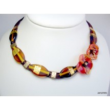 Designer Necklace, Art Glass Jewellery, by JanArt Israel