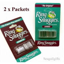 2 Packets of Ring Snuggies, Assorted and Jumbo Size, Ring Resizing Solution