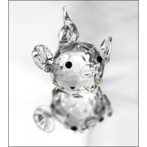 Crystal Ornament Miniature Puffer Fish