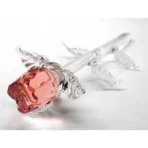 Crystal Rose Ornament Pink
