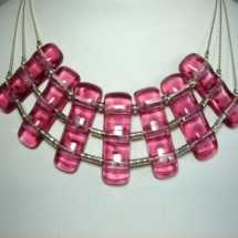 Designer Jewellery Necklace,Jan Art Fused Glass and  Sterling Silver