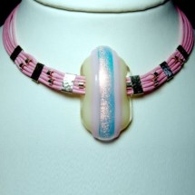 Designer Necklace, Fused Art Glass Jewellery by JanArt, Made in Israel