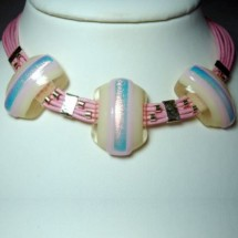 Loading image - Janart Fused Glass Necklace, Fashion Jewellery Made In Israel