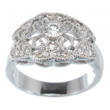 Loading image - Antique Design 925 Sterling Silver Filigree Dress Ring