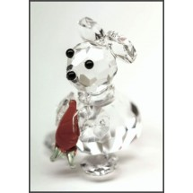 Loading image - Miniature Crystal Rabbit Figurine