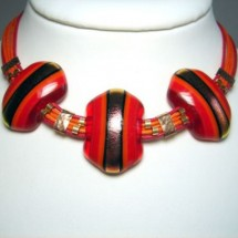 Loading image - Designer Necklace, Fused Glass Jewellery, Made in Israel by Jan Art