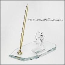 Crystal Desk Set  with Business Card Holder