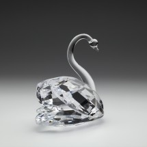 Loading image - Crystal Swan Figurine Ornament (Extra Large)