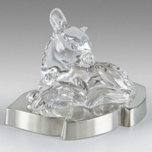 Loading image - Crystal Deer Figurine on Solid Pewter Base