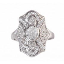 Sterling Silver Jewellery, Cubic Zirconia, Vintage Ring