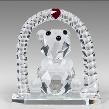 Crystal Teddy Bear Figurine