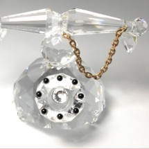 Loading image - Antique Telephone Crystal Figurine