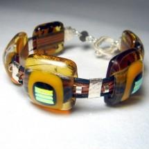 Loading image - Handcrafted Fused Glass Designer Bracelet