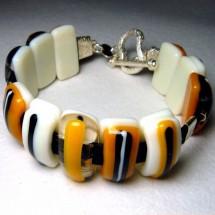 Colored Glass Lampwork  Bracelet by JanArt Israel