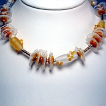 Loading image - Designer Jewellery, Necklace, Fused Glass, by JanArt, Made in Israel
