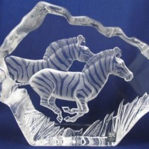 Loading image - Mats Jonasson Crystal Ornament Zebra Limited Edition