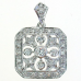 Sterling Silver Necklace, Vintage Inspired CZ Pendant
